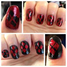 Harley Quinn Nails