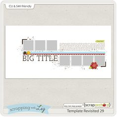 Quality DigiScrap Freebies: Template freebie from Scrapping with Liz