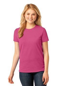 Port & Company Ladies Core Cotton Tee. LPC54