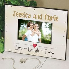Personalized Live Laugh #Love Printed Frame
