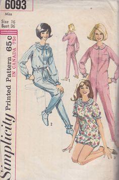 1965 Slumber Party Footie Pajamas Vintage Pattern by BuzzyVintage