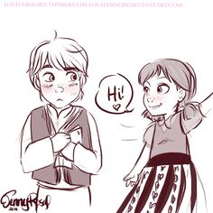 Aww young Kristoff and Anna
