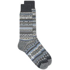 Chup Baile Sock Charcoal | END. Fair Isle Pattern, Charcoal, Your Style, Socks, Fancy, Luxury, Grey, Cotton, Stuff To Buy