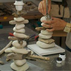 lampe bois flottés design