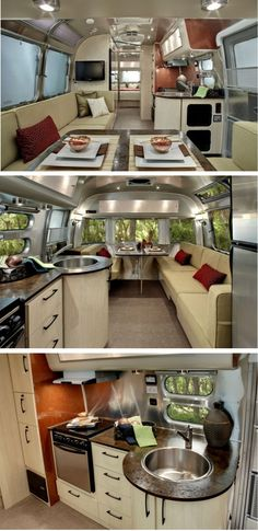 You could model a tiny house after this camper. I would move the tv over the door so 4 people could sit on the long couch and watch tv.