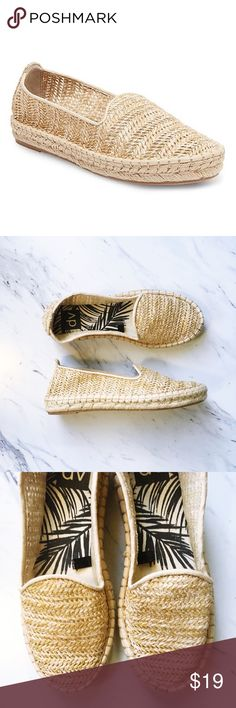 Target DV Woven Espadrille Flats 'Women's dv Desiree A-Line Espadrille Ballet Flats' super cute and comfortable. Perfect condition except for the black smudge on the bottom. Fantastic casual espadrilles for summer, fall and spring. Easy to pack, flexible body, great for vacation -wear! DV by Dolce Vita Shoes Espadrilles