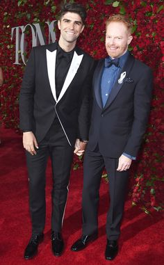 Jesse Tyler Ferguson & Justin Mikita from Tony Awards 2016 Red Carpet Arrivals  Before appearing in a Tony Awards edition of Carpool Karaoke, the Modern Family star walks the red carpet with his husband.