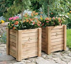 Easy To Build Containers Garden Yard Ideas, Garden Boxes, Garden Crafts,