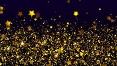 Shimmering Gold Stars - Free Stock Video Background Loop - YouTube