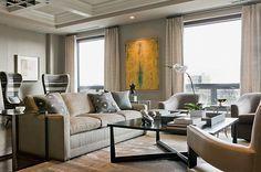 Interior design firm Terrat Elms Interior Design featured Leo's Luxe Linen 5303 Kelly Grey.