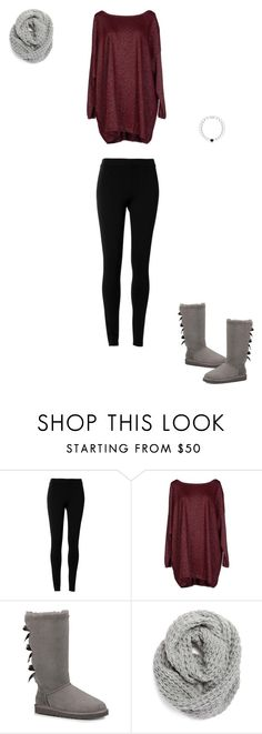 """""""Easy Throw-On Outfit"""" by sophielovek on Polyvore featuring Max Studio, Blukey, UGG Australia, Halogen, women's clothing, women's fashion, women, female, woman and misses"""