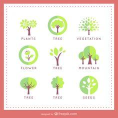 Modelos de logotipo árvore Vetor grátis