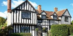 A medieval manor house Oak Framed Buildings, Old Buildings, Tudor Homes, Period Living, Home History, Tudor Style, Old Houses, Cottages, Beams