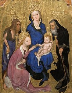 The Mystical Marriage of Saint Catherine is a painting by the medieval Italian painter Michelino da Besozzo. The painting dates from c. 1420 and is housed in the Pinacoteca Nazionale of Siena, Italy.