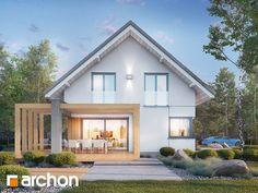 Dom w losanach 2 Modern Architecture House, Architecture Design, Narrow House Plans, Bungalow Exterior, House Front Design, Minimal Home, Villa Design, Japanese House, Home Fashion