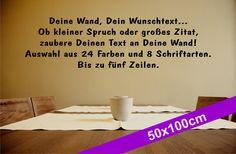 Deine Wand, Dein Wunschtext 50x100 - Wandtattoo von DOON Germany auf DaWanda.com