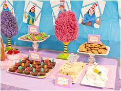 Super cute Dr. Seuss themed teacher appreciation party...awesome ideas for a Dr. Seuss party