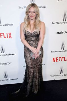 Hilary Duff's gentle waves looked perfect for Netflix's 2015 Golden Globes After Party.