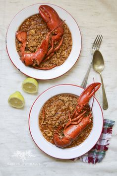 RECETA DE ARROZ CON BOGAVANTE, rice, spanish food, seafood, food photography,