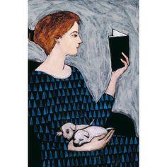 She Reads, Brian Kershisnik, American, 1962