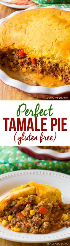 The Perfect Tamale Pie Recipe - Easy to Make and Gluten Free! | ASpicyPerspective.com via @spicyperspectiv