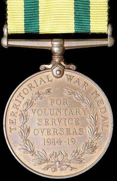 Territorial Force War Medal 1914 - 19 WWI