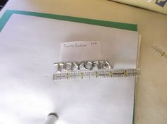 Toyota Camry Corolla trunk emblem logo badge nameplate 34A  #TOYOA