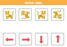 Spatial Orientation For Kids. Cute Cartoon Leopard In Different Orientation. Learning Numbers Preschool, Math Activities For Kids, Educational Games For Kids, Montessori Activities, Color Activities, Worksheets For Kids, Math Subtraction Worksheets, Logic Puzzle Games, Handwriting Practice Sheets