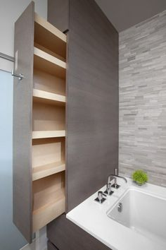 Men and girls try to match in too a great deal of stuff inside the bathroom and the consequence is it seems too cluttered. Your bathroom probably looks unkempt, since . Read Best Modern Bathroom Shower Ideas or Small Bathroom Small Bathroom Storage, Tiny House Bathroom, Bathroom Renos, Bathroom Interior, Modern Bathroom, Bathroom Organization, Bathroom Ideas, Master Bathroom, Organization Ideas