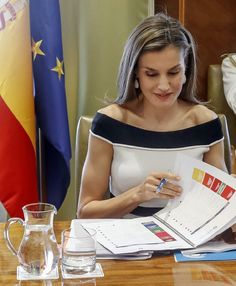 Queen Letizia of Spain attends UN SDGs Meeting at CSIC headquaters on June 13, 2017 in Madrid, Spain.