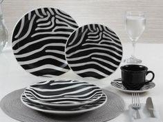 Aparelho de Jantar Zebra 30 Peças - Oxford