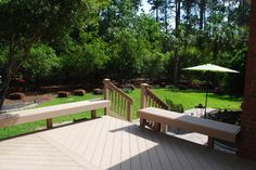 Stunning views from NE Columbia, SC, AZEK deck - Design Ideas - Archadeck Outdoor Spaces, Outdoor Living, Outdoor Decor, Stunning View, Beautiful, Deck Design, Sunroom, Columbia, Outdoor Furniture Sets