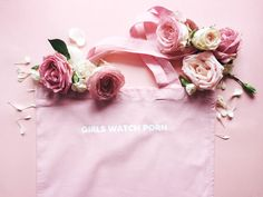 Girls Watch Porn pink bag by girlswp on Etsy