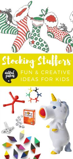Stocking Stuffers for Kids - 27 Fun & Creative Ideas Kids Will Love So many fun stocking stuffers for kids! If you're looking for stocking stuffer ideas for kids, try these creative ideas including games, toys & art supplies. Kids Christmas Stockings, Kids Stockings, Christmas Stocking Fillers, Rules For Kids, Art For Kids, Stocking Stuffers For Boys, Stocking Ideas, Painting For Kids, Gifts For Boys