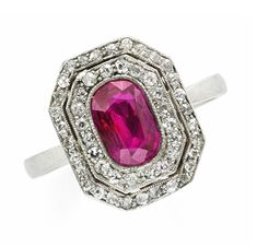 An Art Deco Ruby and Diamond Ring, circa 1920. Via FD Gallery, www.fd-inspired.com