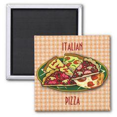 Italian Pizza Fridge Magnets by Elenaind #ZAZZLE