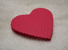 Embossed Paper Hearts...12 Piece Set of Very Lovely Red Embossed Paper Hearts Scrapbook Embellishments on Etsy, $2.70 CAD