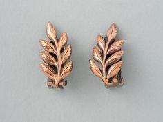 Vintage Renoir Leaf Earrings from  ShinyShelly on Etsy