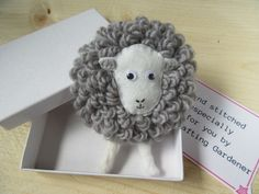 Herdwick sheep brooch £9.00 Gifts Uk, Gifts For Her, Unique Gifts, Animal Antics, Handmade Items, Handmade Gifts, Paper Cover, Gift For Lover, Farm Animals