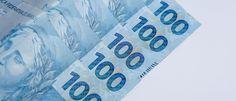 Cédulas de cem reais. Cédulas brasileiras. Banknote hundred reals. Brazilian…