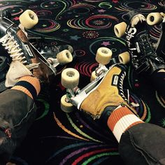 Esther and my go to wheels at  the Holliday roller rink last night it's always rad and we had cool friends go last night to soo cool @stancesocks by brian_bent