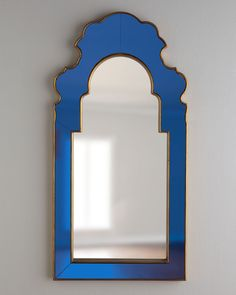 Home Decor Obsessed. Sapphire Blue Mirror designed by Bunny Williams. $995. #interiordesign