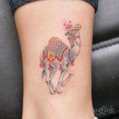 타투이스트 리버의 그라피투 @graffittoo Camel on ankle :-...Instagram photo | Websta (Webstagram)