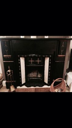 Fireplace make over - Victorian painted fireplace. Fireplace restoration
