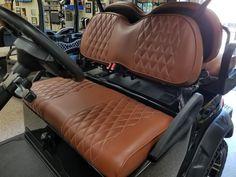 Club Car Precedent Golf Cart Premium™ Diamond Pleated Seat Covers(Saddle) #KoolCushions Golf Cart Seat Covers, Golf Cart Seats, Golf Carts For Sale, Rv, Ebay, Club, Diamond, Motorhome, Diamonds
