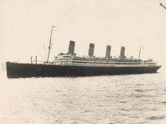 Exterior of Aquitania (1914)