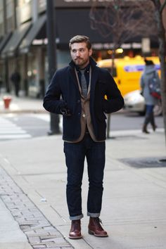 few guys can pull off cuffed jeans... this guy is one of them. He sort of reminds me of my friend Aaron.
