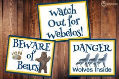 Free Cub Scout Door Signs — Chicken Scratch N Sniff Cub Scout Crafts, Cub Scout Activities, Lion Cub, Tiger Cub, Scout Mom, Girl Scouts, Cub Scouts Wolf, Pack Meeting, Camping Signs