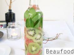 Beaufood - Fris fruitwater met munt, kiwi en grapefruit