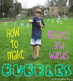Recipes for Homemade Bubbles and Cool Bubble Wands | ThePartyAnimal-Blog